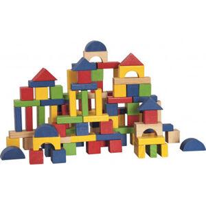 Stavebnice kostky barevné v kartonu - 100 ks