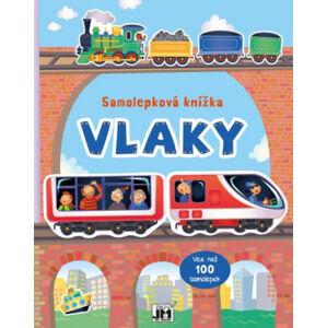 Vlaky -  samolepková knížka