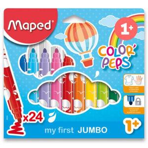 Dětské fixy Maped Color´Peps Jumbo - 24 barev