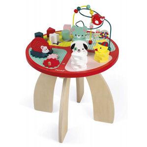 Dřevěný hrací stolek s aktivitami - les