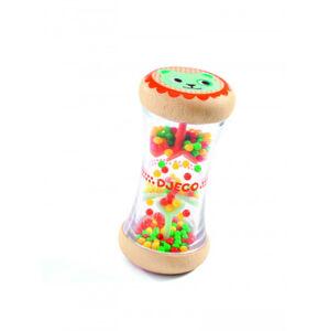 Dešťové korálky malé - chrastítko s obrázkem kočičky