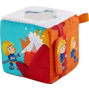 Textilní hrací kostka – hasiči