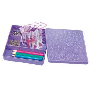 Výroba doplňků ze smršťovací fólie - fialová