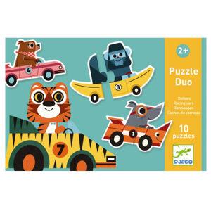 Puzzle Duo - závodníci v autech