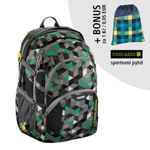 Školní batoh Coocazoo JobJobber2, Crazy Cubes + sportovní pytel za 1 Kč