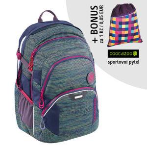 Školní batoh Coocazoo JobJobber2, Wildberry Knit + sportovní pytel za 1 Kč