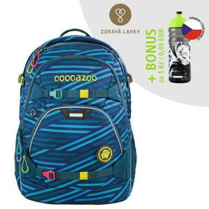 Školní batoh coocazoo ScaleRale, Zebra Stripe Blue, certifikát AGR + lahev za 1 Kč