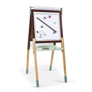 Magnetická oboustranná a polohovatelná tabule - hnědá a zelená