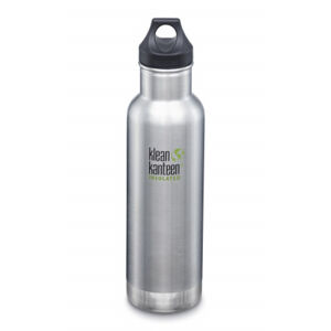 Nerezová termolahev Klean Kanteen Insulated Classic w/Loop Cap - brushed stainless 592 ml