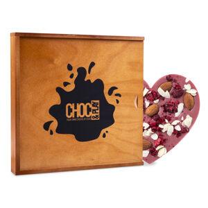 Chocolissimo - Růžová čokoláda dárek na Valentýna 100 g