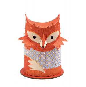 Malá papírová noční lampička - Liška