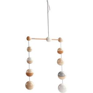 Závěsný kolotoč - dřevěné kuličky