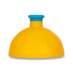 Náhradní víčko na Zdravou lahev, tmavě žlutá/ modrá fluo