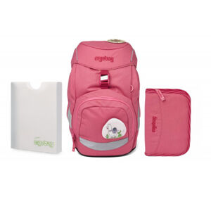 Školní set Ergobag prime - Eco pink -batoh + penál + desky