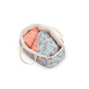 Lilliputiens - Textilní košík pro panenky s květinovým potiskem