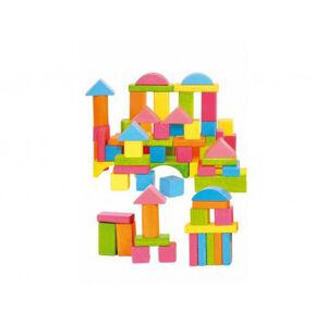 Stavebnice kostky barevné v kyblíku - 75 ks