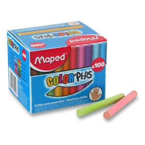 Barevné školní křídy Maped - 100 ks