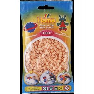 Hama Midi - červené svítící korálky 1000 Ks