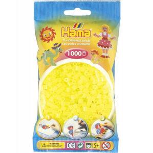 Hama Midi - neonové žluté korálky - 1000 Ks