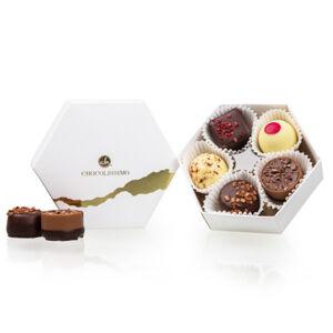 Chocolissimo - Malá dárková bonboniérka do 300 Kč White Treasure 60 g