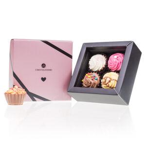 Chocolissimo - Pralinky Cupcake pro zamilované - 4ks 75 g