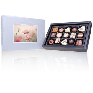 Chocolissimo - Stříbrná bonboniéra s Vaší fotografií - midi 180 g