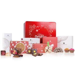 Chocolissimo - Čokoládové vánoční dárky v kovové krabici 400 g