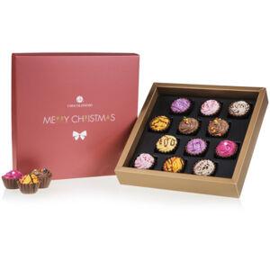 Chocolissimo - Čokoládové vánoční cupcakes - sada SQUARE 225 g