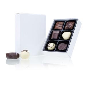 Chocolissimo - 6 pralinek v bílé krabičce 75 g